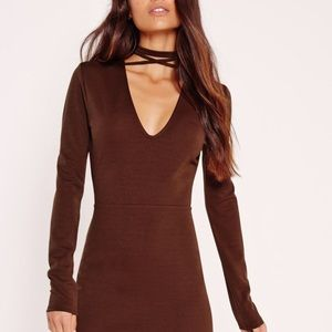 Brown misguided dress